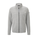 TOM TAILOR leichte Sweatjacke hellgrau