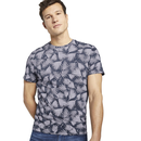 TOM TAILOR Kurzarm Shirt Palmenprint blau