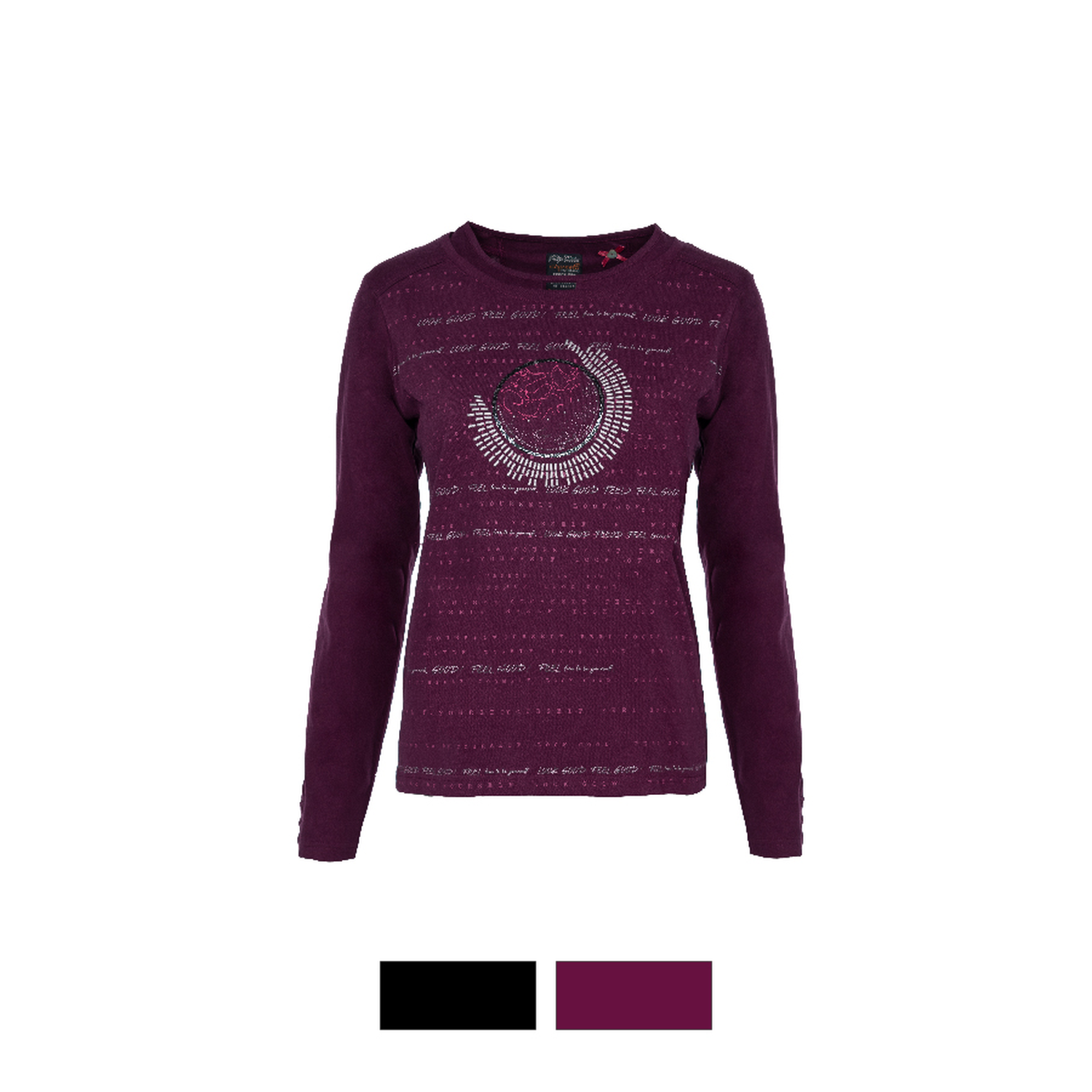S´QUESTO Shirt mit Nietendetail very berry