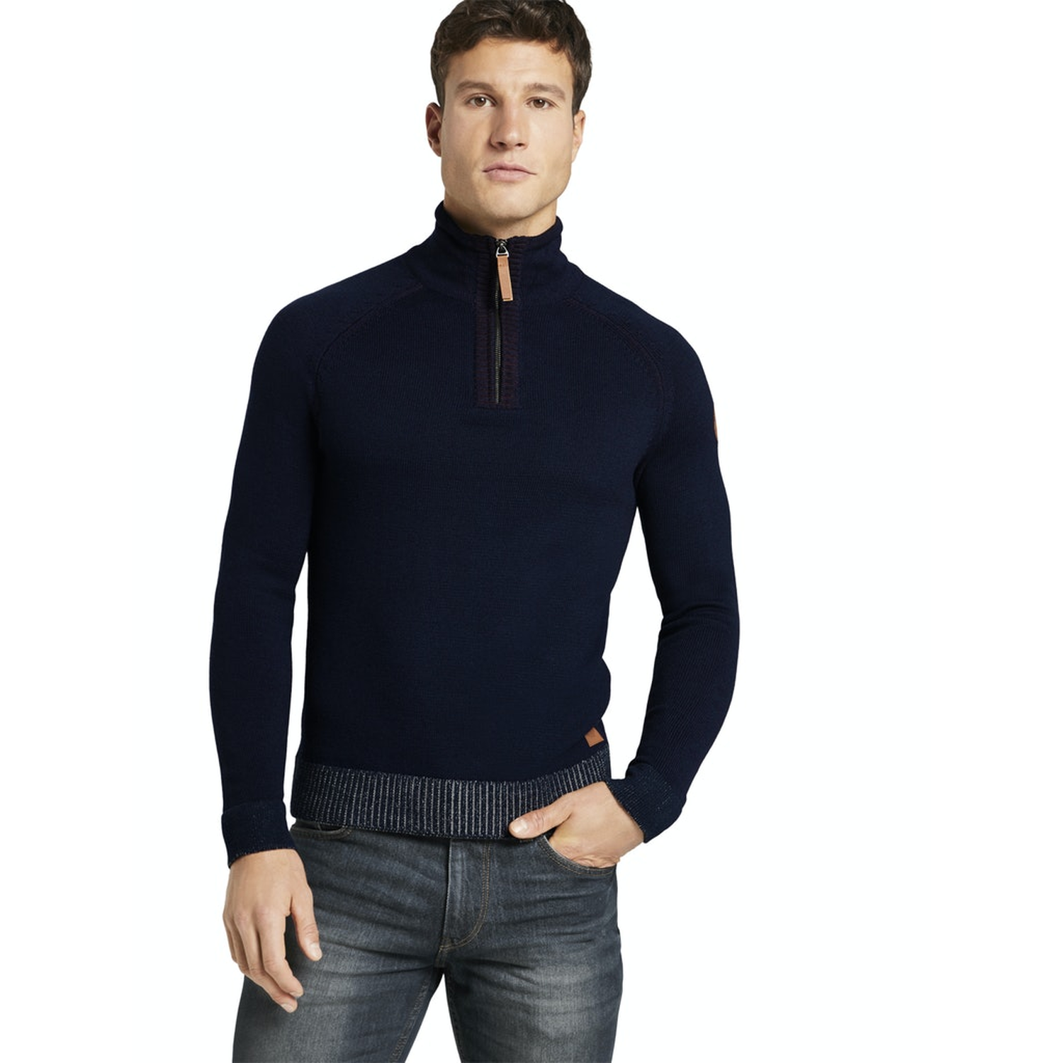 TOM TAILOR Pullover meliert sky blue