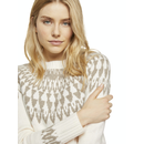 TOM TAILOR Pullover mit Shetland-Muster offwhite